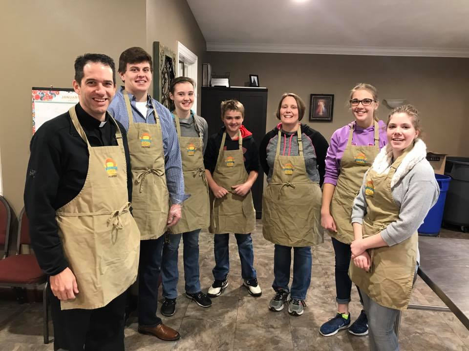 Youth Group volunteering at Sophia's Kitchen